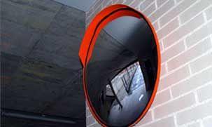 espejo convexo para seguridad de garajes
