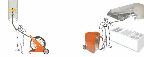Limpieza de campanas extractoras de cocinas industriales