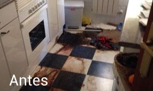 antes de realizar la limpieza por fallecimiento en domicilio