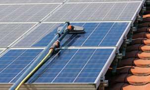 subcontratar limpieza de placas solares