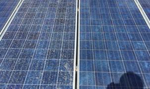 limpieza de placas solares con ósmosis inversa. Antes de la limpieza