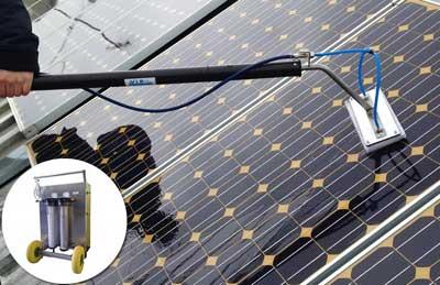 limpieza de placas solares con peértigas de ósmosis