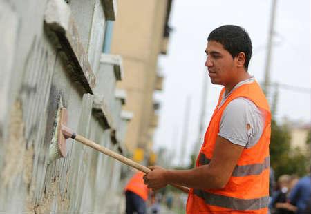 limpiar graffiti manualmente