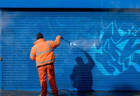 limpiar graffitis