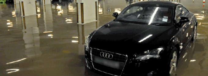 Limpiar garajes inundados
