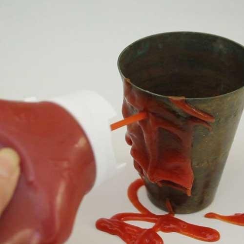 limpiar aluminio con ketchup