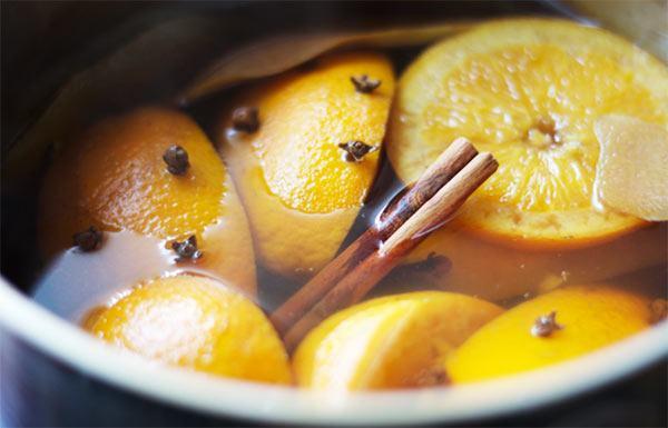 ambientador natural de naranja y canela