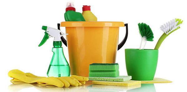 equipamiento para limpiar con salfumán