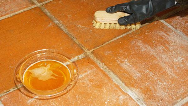 restauración de suelos de barro cocido