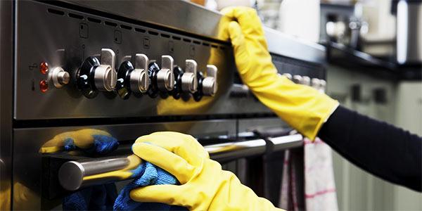 limpiar el horno por fuera