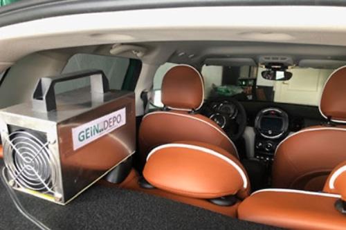 Ozonización de vehículo