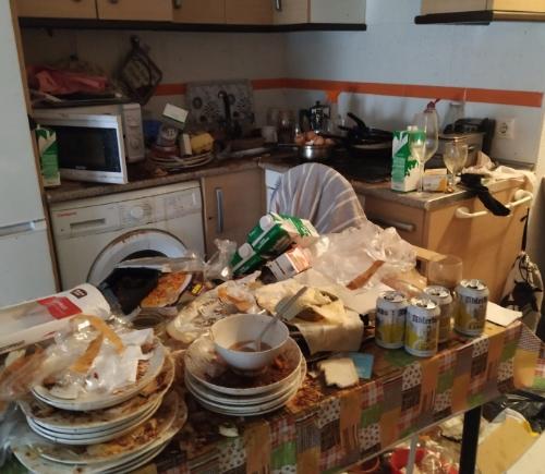 Imagen de cocina antes del vaciado de piso