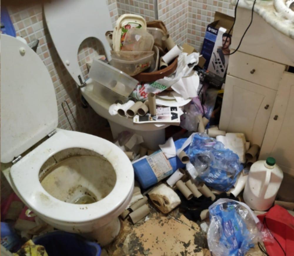 Vaciado y limpieza de baño antes del servicio
