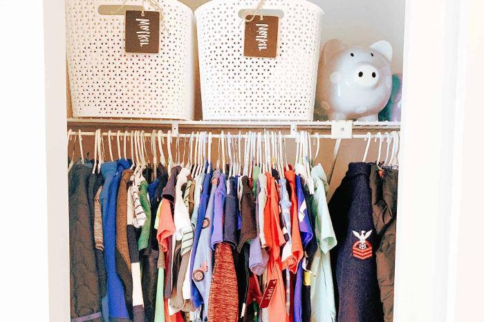 Aprovechando los rincones del armario pequeño