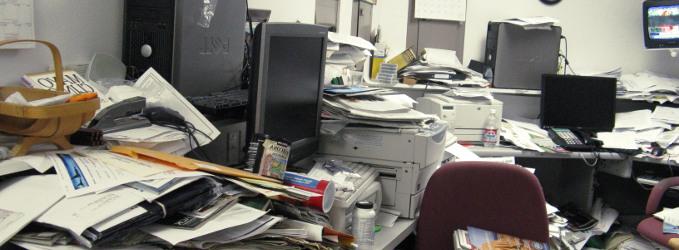 Cómo evitar la suciedad y desorden en el área de trabajo