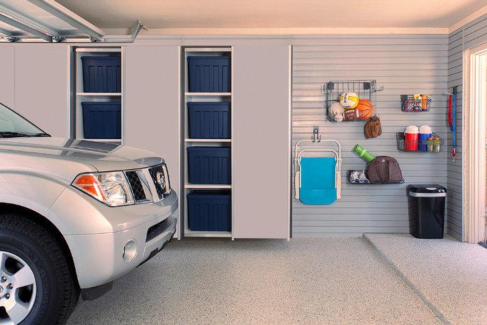 Armarios en el garaje para organizar trastos