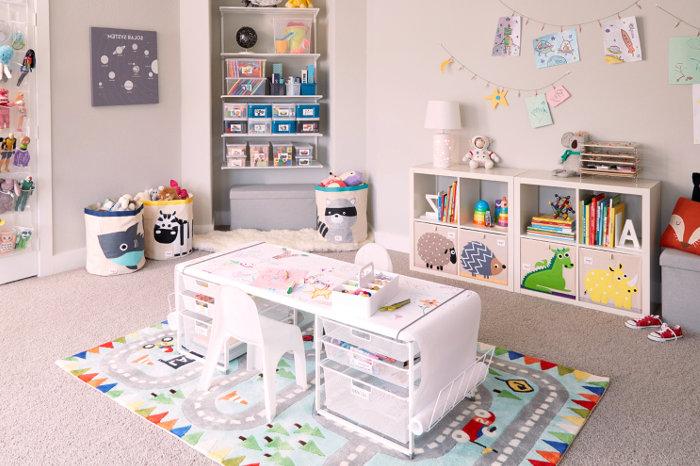Estanterías para colocar juguetes con poco sitio