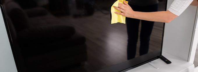 Cómo limpiar pantallas de TV